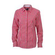 chemisier chemise manches longues FEMME carreaux vichy JN616 - rouge