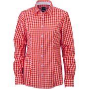 chemisier chemise manches longues FEMME carreaux vichy JN616 - orange