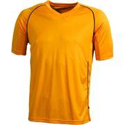 T-shirt polyester ENFANT col V Maillot Football - JN386K - orange