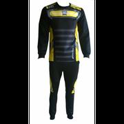 Maillot de foot thaïlande et bas de jogging Eureka noir et jaune