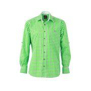 chemise manches longues à carreaux - JN638 - HOMME - vert et blanc