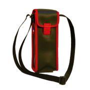 Sacoche à bandoulière pour 3 boules de pétanques - SS3-B - noir et rouge
