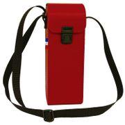 Sacoche rigide bandoulière pour 3 boules de pétanques BS3-B rouge