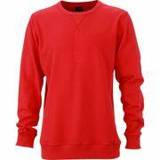 Sweat shirt encolure galonnée homme - JN992 - rouge