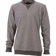 Sweat shirt encolure galonnée homme - JN992 - gris clair