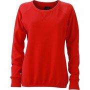 Sweat shirt encolure galonnée femme - JN991 - rouge