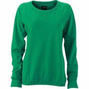 Sweat shirt encolure galonnée femme - JN991 - vert