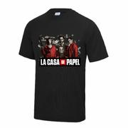 Maillot - Tee shirt Casa de Papel enfant noir Taille 9 � 13 ans