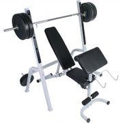 Banc de musculations abdominaux haltères sport fitness musculation Helloshop26 0701081