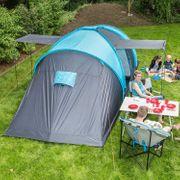 Hammerfest 6 - Tente dôme familiale - 6 personnes - 620 x 220cm - bleu-bleu foncé