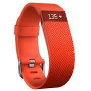 Bracelet connecté Fitbit Charge HR Orange taille L