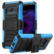 Galaxy S8 Plus Coque Robuste Double Couche Bleu