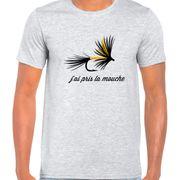 T Shirt Col Rond Imprime la mouche