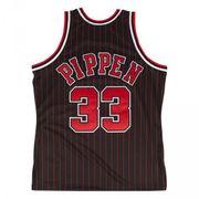 Maillot NBA swingman Scottie Pippen Chicago Bulls 1995-96 Hardwood Classics Mitchell & ness noir rayé taille - S