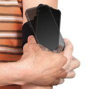 Brassard de sport Smartphone Fixation FitClic Sangle ajustable Tigra - Noir