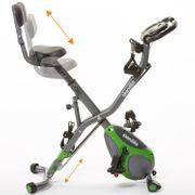 Foldaway X-3000 - Vélo d'appartement x-Bike Pliant - 8 Niveaux de Resistance - Dossier-Bluetooth - Gris/Vert