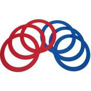 6 anneaux jonglage 32 cm