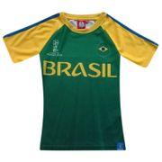 Tee shirt équipe du Bresil FIFAé 2018 Officiel  et jaune Taille de 4 é 12 ans - 12 ans vert