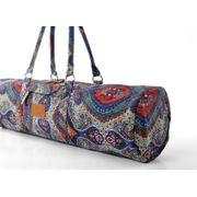 Sac de yoga Damayanti 100% coton, pour tapis 186 cm x 63 cm x 0,5 cm, Poche incluse