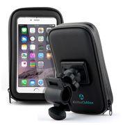 Support vélo fixation guidon Volant rotation 360° housse protection imperméable pour smartphones, GPS