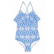 Maillot de bain Enfant 1 pièce Seafolly Boho Tile Bleu