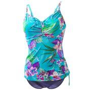 fd6e3012db Maillot de bain 2 Pièces Sun Playa Tankini à Fleurs Bleu