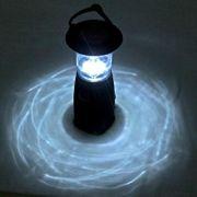 Lampe solaire HDRotatif de Charge Solaire 6 LED Lampe de Camping, Intégré dans les Batteries Rechargeables