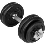 Gorilla Sports - Gyronetics E-Series 1 x haltères de 15kg avec des poids en fonte GN015