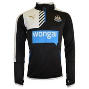 2015-2016 Newcastle Puma Quarter Zip Training Top (Black) - Kids