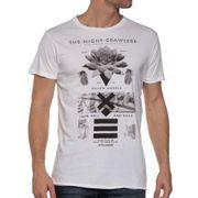 T-shirt homme blanc imprimé fleuri