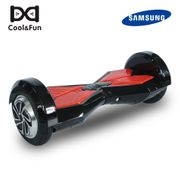 COOL&FUN Hoverboard Bluetooth gyropode 8 pouces Noir-Rouge, Batterie samsung+Bluetooth