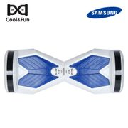 COOL&FUN Hoverboard Bluetooth gyropode 8 pouces Blanc-Bleu, Batterie samsung+Bluetooth