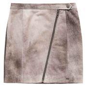 Superdry Distressed Leather Biker Skirt