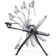 Parantaja - Table d'inversion Pliante pour Exercices du Dos (5 Positions, Rembourrage Mousse, 150kg) - Gris/Noir