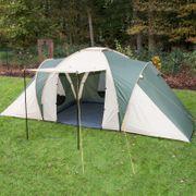 Daytona - Tente familiale dôme camping - 6 personnes - 530x370 cm - vert-beige
