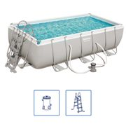 Bestway Ensemble de piscine rectangulaire Power Steel 56411