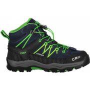 CMP - Rigel Mid WP Enfants chaussures de randonnée (bleu foncé/vert)