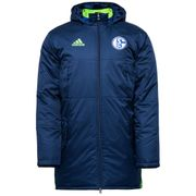 2016-2017 Schalke Adidas Stadium Jacket (Dark Blue)