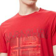 T-shirt Napapijri Sawy manche courte rouge