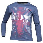 Tee Shirt Garçon Pepe Jeans Byron Jr Pb502210 585 Marine