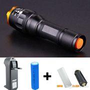 Lampe torche CREE XM-L T6 3800 Lumens Zoomable LED + Chargeur + Batterie 5000mah 18650