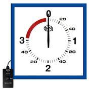 Pendule de boxe anglaise 3 mn + 1 mn - L : 625x625 mm - Télécommande filaire