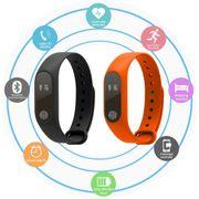 Montre connectée avec un bracelet silicone