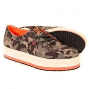 basket femme plateforme DC SHOES CREEPER TX Army Camouflage