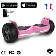 EVERCROSS Hoverboard Challenger G2 8.5 pouces,  Gyropode Overboard SUV Hummer Tout Terrain avec Bluetooth, Rose