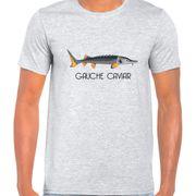 T Shirt Col Rond Imprime Gauche Caviar