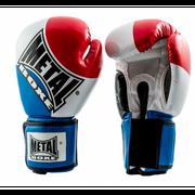 Gants de boxe compétition Bleu/Blanc/rouge brillant Taille - 8oz