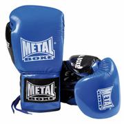 Gants de combat cuir PRO LACETS bleu Taille - 10oz