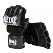 Gants de MMA cuir avec pouce Métal Boxe - METAL BOXE - (Noir - XL)