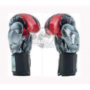 Gants de boxe RAGE gris blanc rouge MB610RA - METAL BOXE - (Gris - 14 OZ)